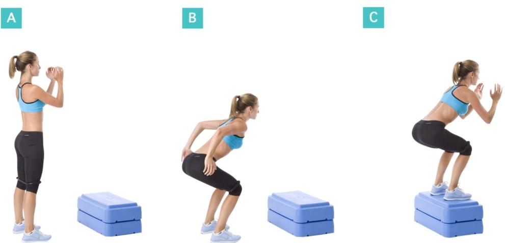 Упражнение - Прыжки с приседанием