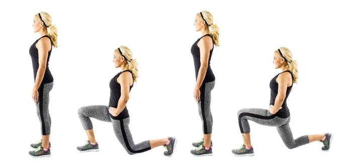 Техника выполнения упражнений - Выпады