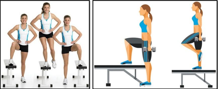 упражнения для похудения бедер - Заход на возвышенность