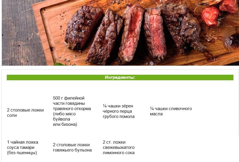 Полезные рецепты перцовый стейк