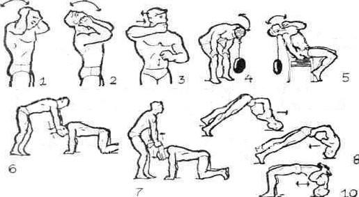 упражнения с собственным весом на шею