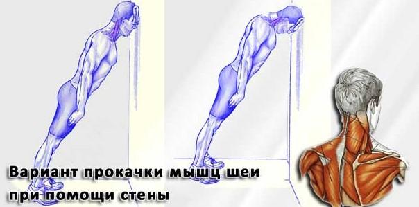 Работа с собственным весом на шею