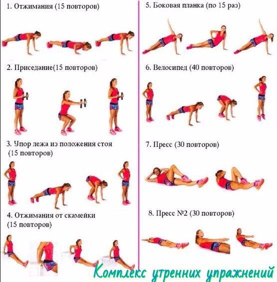 Комплекс утренних упражнений