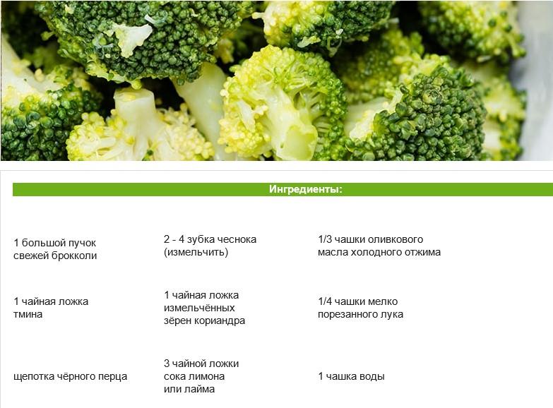 Полезные рецепты соус из брокколи